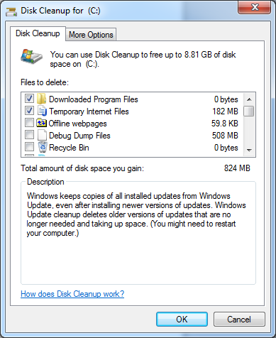 Compress Old Files Disk Cleanup 48